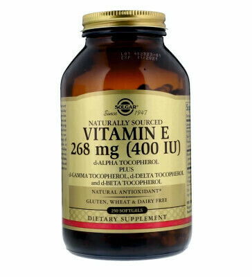 Витамин Е-природного происхождения SOLGAR VITAMINA-E 400UI 268МГ