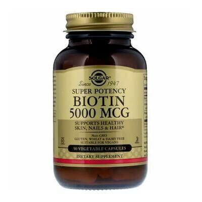 Биотин от выпадения волос Solgar Biotin 5000 MCG