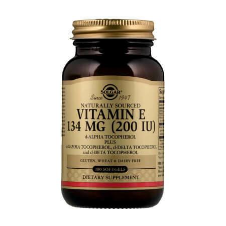 Витамин Е-природного происхождения SOLGAR VITAMINA-E 200 UI 134 МГ