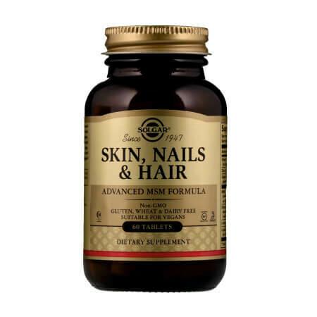 Кожа, ногти и волосы, улучшенная рецептура Solgar Skin Nails Hair