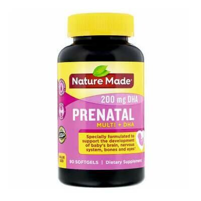 Витамины для беременных и планирующих беременность Nature Made, Prenatal Multi + DHA