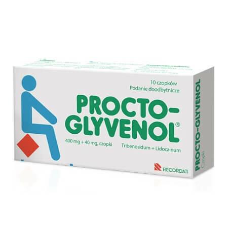 Эффективные свечи при остром и хроническом геморрое Procto Glyvenol