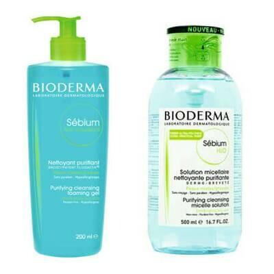 Набор Bioderma 1+1 для жирной кожи