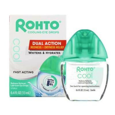 Экспресс помощь для глаз Охлаждающие глазные капли Rohto