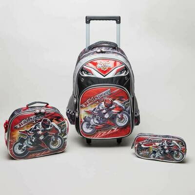 Полный комплект Рюкзак на колесах +5 элементов  Shimmer and Shine