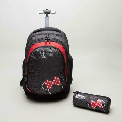 Комплект Рюкзак на колесах +Пенал Disney Minnie Mouse  46 сантиметров