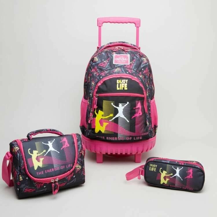 Рюкзак на колесиках +Пенал и сумка для завтрака Juniors