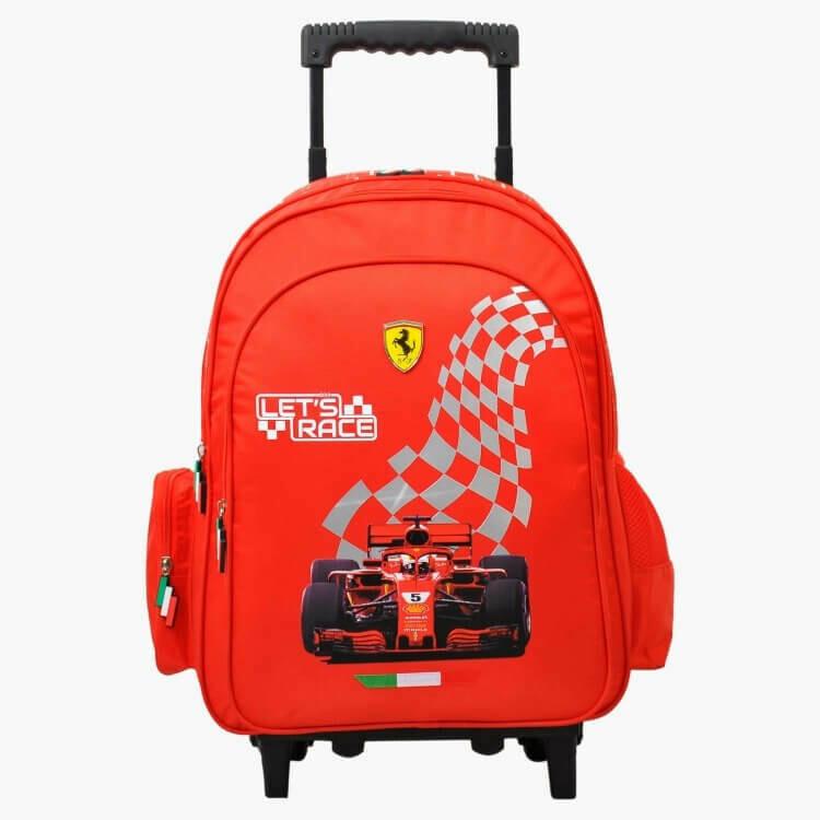 Красный Рюкзак на колесиках Ferrari Let's Race 46 сантиметров