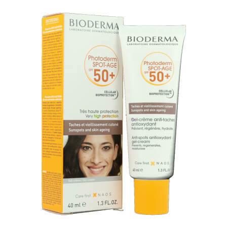 Солнцезащитный крем для лица +Сокращает пигментные пятна и морщины Bioderma Photoderm Spot-Age SPF 50+