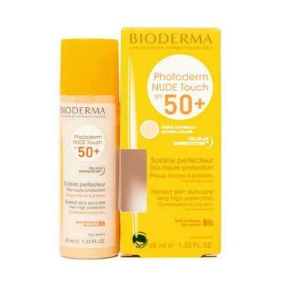Солнцезащитный тональный флюид Bioderma Photoderm Nude Touch SPF50 + Light Color