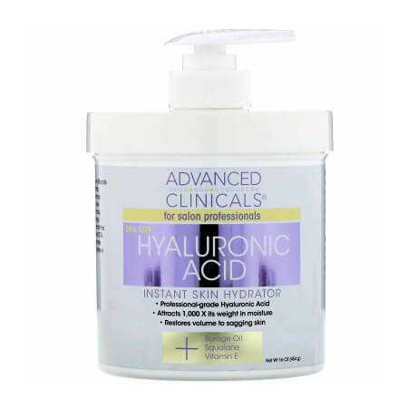 Гиалуроновая кислота для мгновенного увлажнения кожи Advanced Clinicals