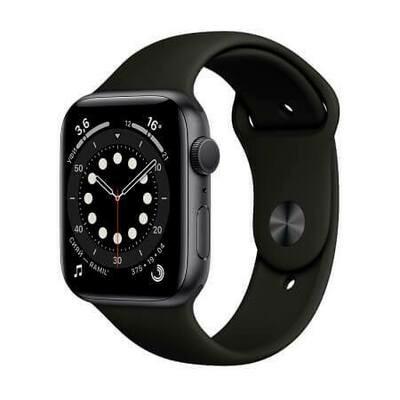 Apple Watch Series 6 Корпус из алюминия цвета «серый космос» • Спортивный ремешок