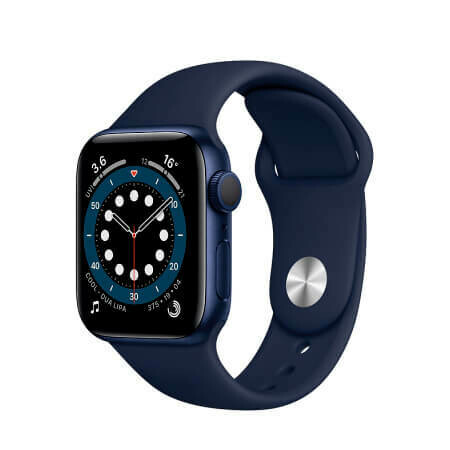 Apple Watch Series 6 Корпус из алюминия синего цвета • Спортивный ремешок