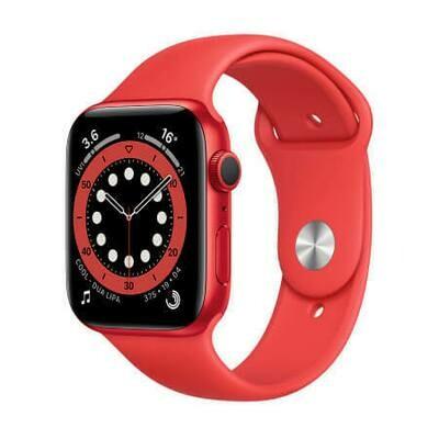 Apple Watch Series 6 Корпус из алюминия цвета (PRODUCT)RED • Спортивный ремешок