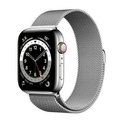 Apple Watch Series 6 GPS + Cellular, Silver Stainless Steel Case with Silver Milanese Loop