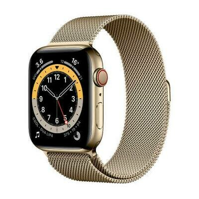 Apple Watch Series 6 GPS + Cellular, Gold Stainless Steel Case with Gold Milanese Loop