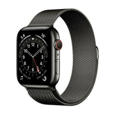 Apple Watch Series 6 GPS + Cellular, Graphite Stainless Steel Case with Graphite Milanese Loop