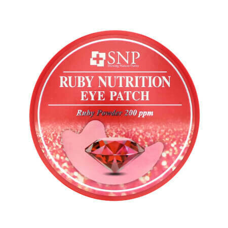 Гидрогелевые патчи для ухода за областью кожи вокруг глаз с Рубиновой пудрой SNP Ruby Nutrition Eye Patch 200ppm 60 патчей