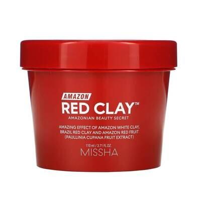 Очищающая глиняная маска для лица Missha Amazon Red Clay Pore Mask 110мл