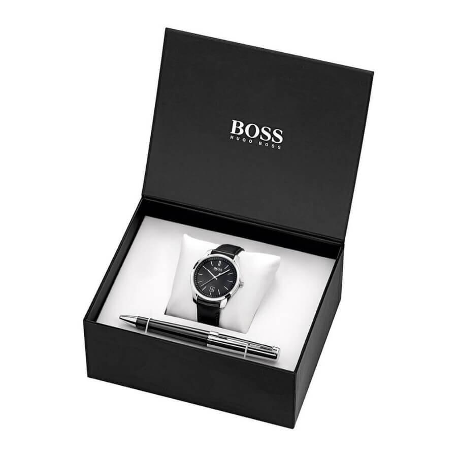 Японские часы CaМужской набор часы и ручка HUGO BOSS