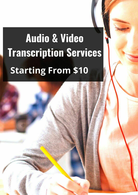 Audio & Video Transcription Services