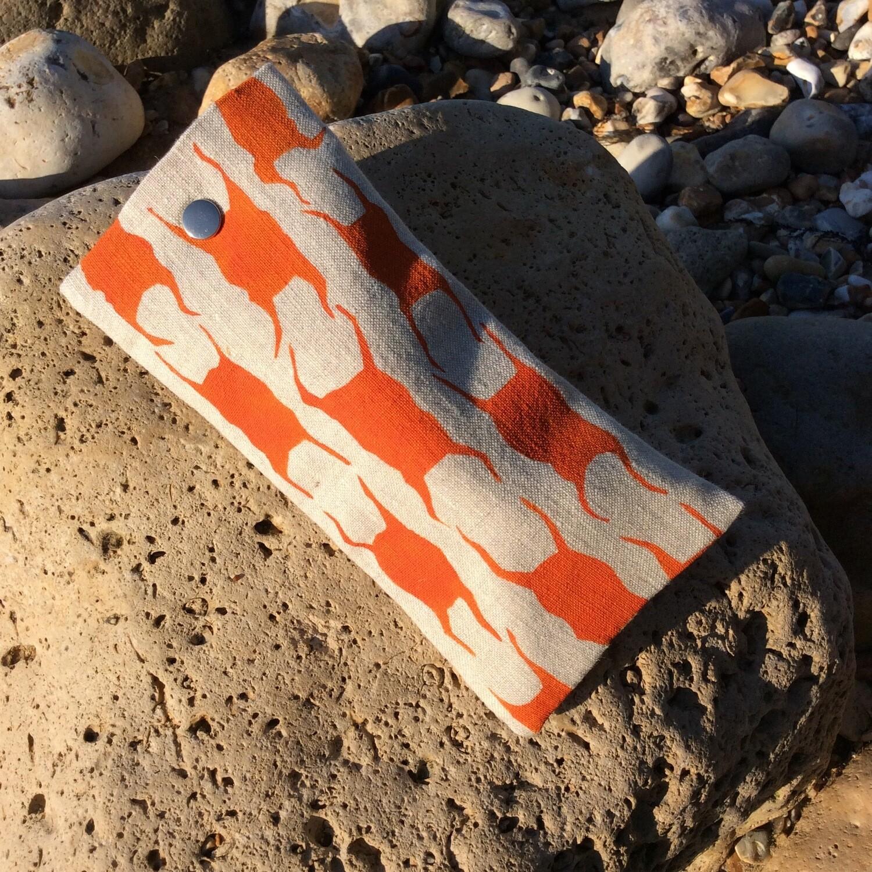 'Mermaids Purse' Glasses Case - Orange