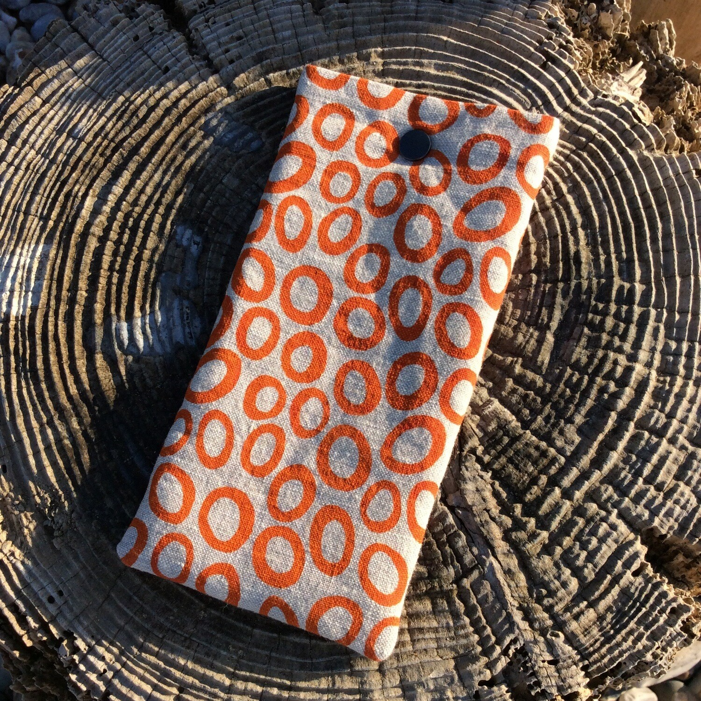 'Bubbles' Glasses Case - Orange