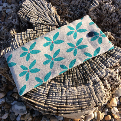 'Sandflower' Glasses Case - Turquoise