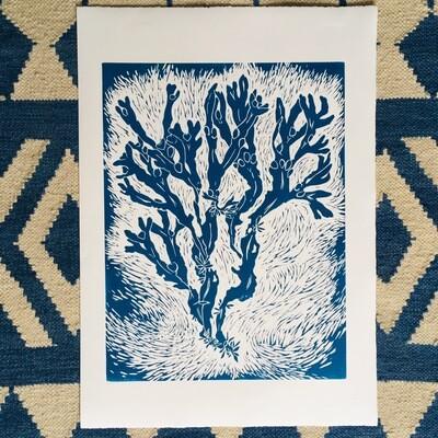 Bladderwrack Lino Print
