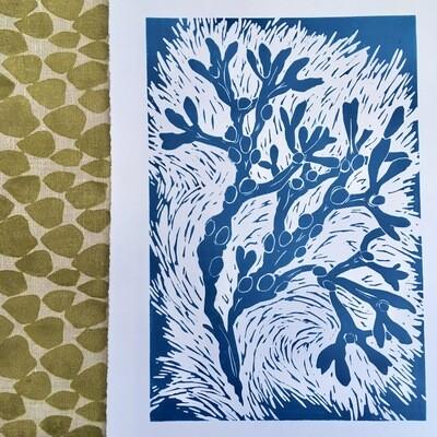 Waving Wrack Lino Print