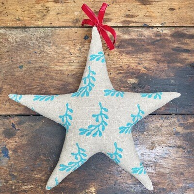 Fabric Star Decoration - Frond