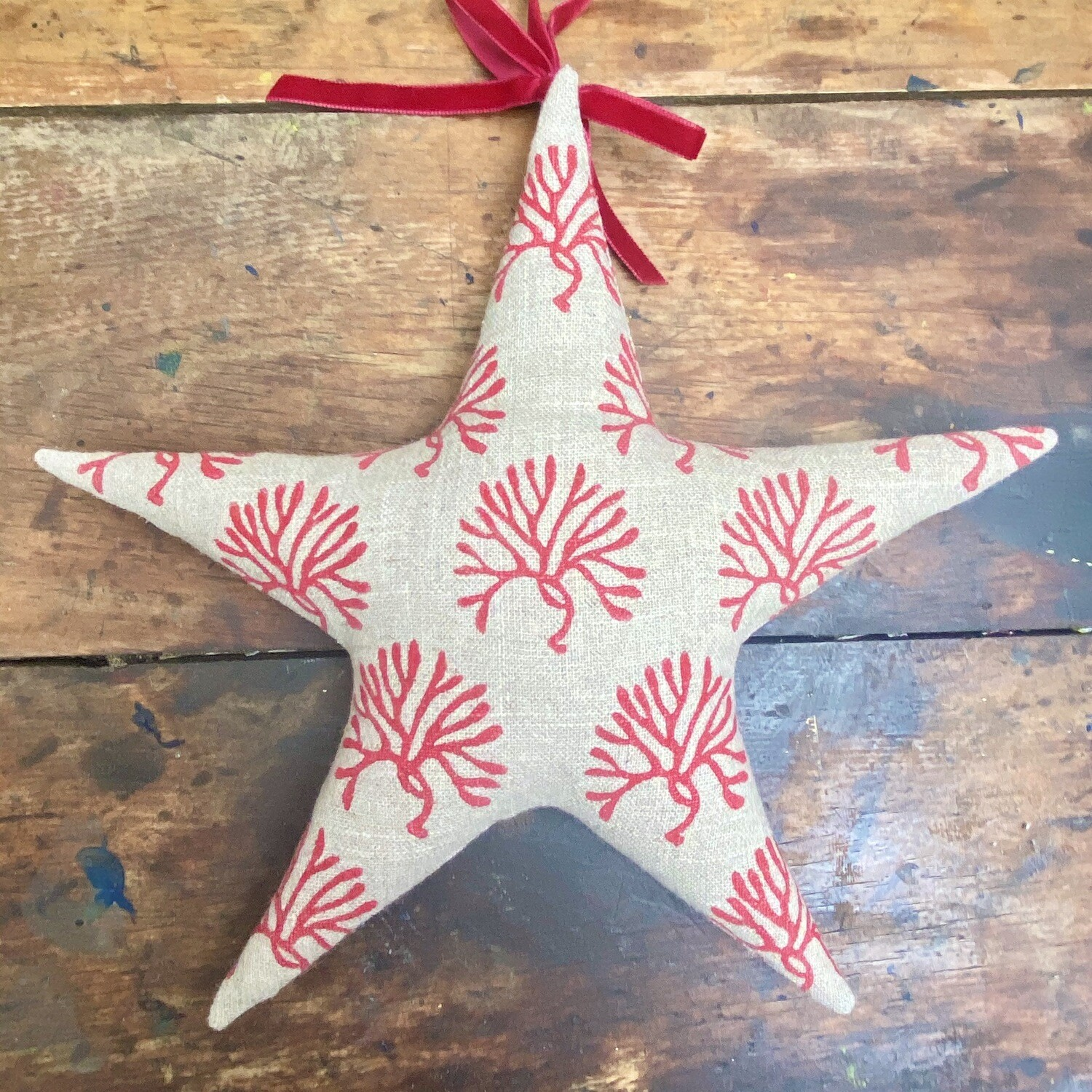 Fabric Star Decorations - Sea fingers