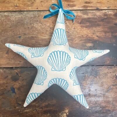 Fabric Star Decoration - Scallop Shell