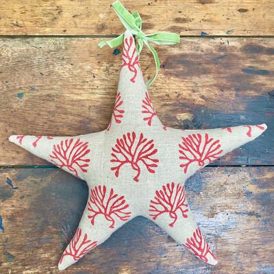 Fabric Star Decoration - Sea Fingers