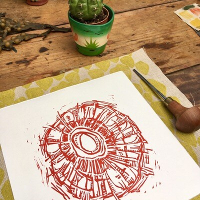 Limpet Lino print