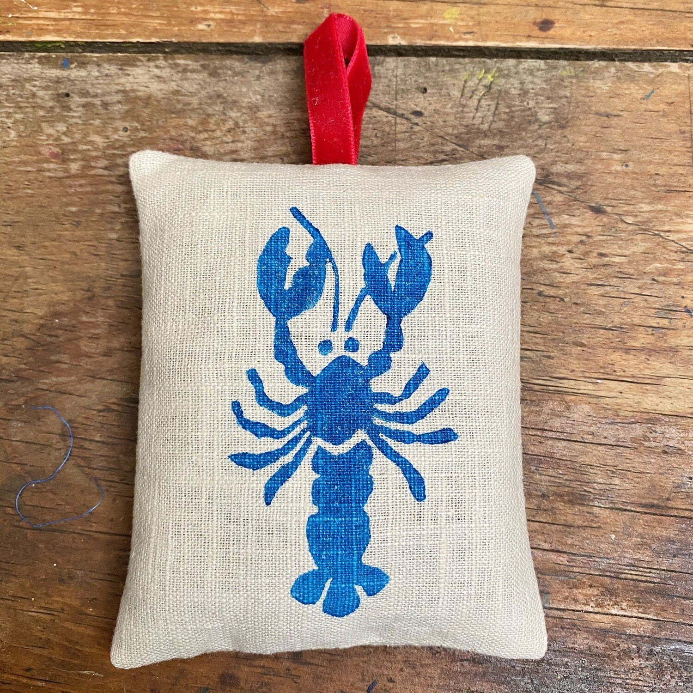 Blue Lobster Lavender Bag