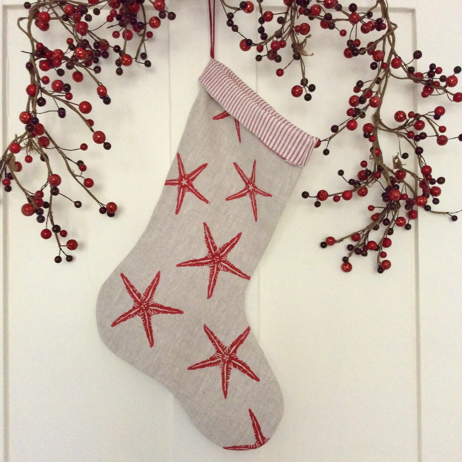 Starfish Stocking - Nordic Red