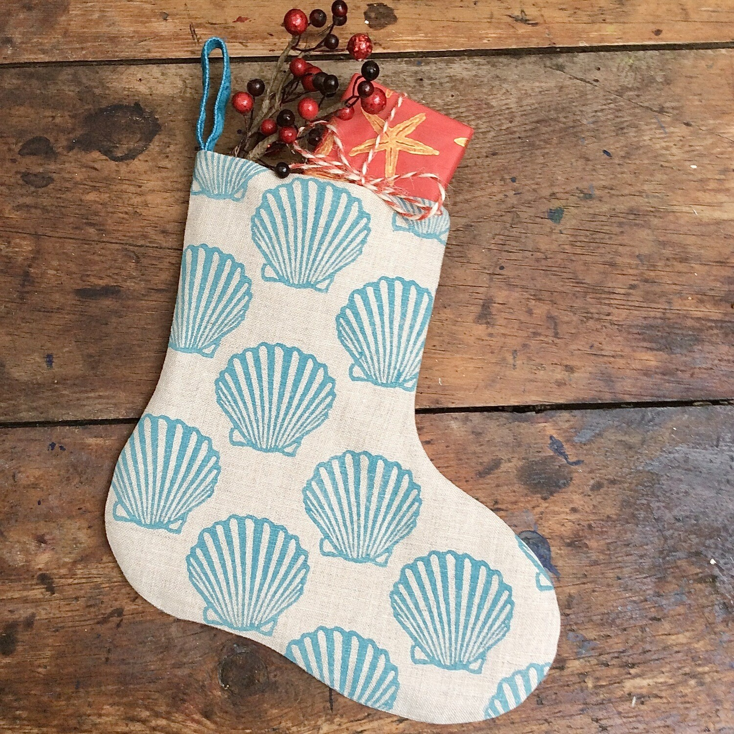 Shell Bootee In Teal