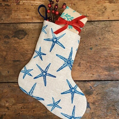 Starfish Bootee in Ink Blue