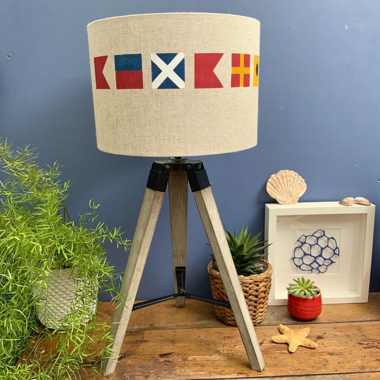 Bembridge Sailing Flags Lampshade