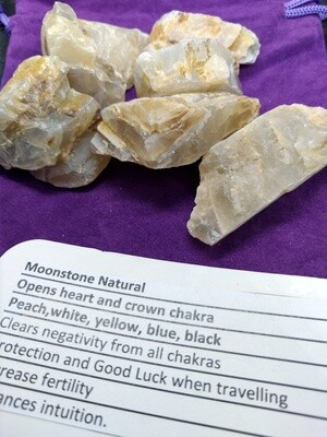 MOONSTONE NATURAL RAW PIECES  SMALL X2