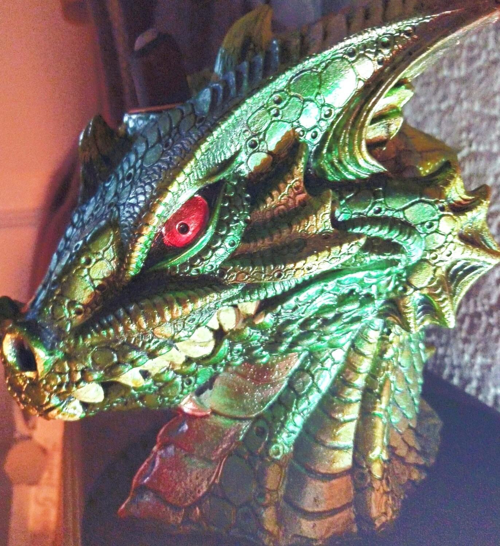 LARGE GREEN DRAGONHEAD BACKFLOW INCENSE BURNER