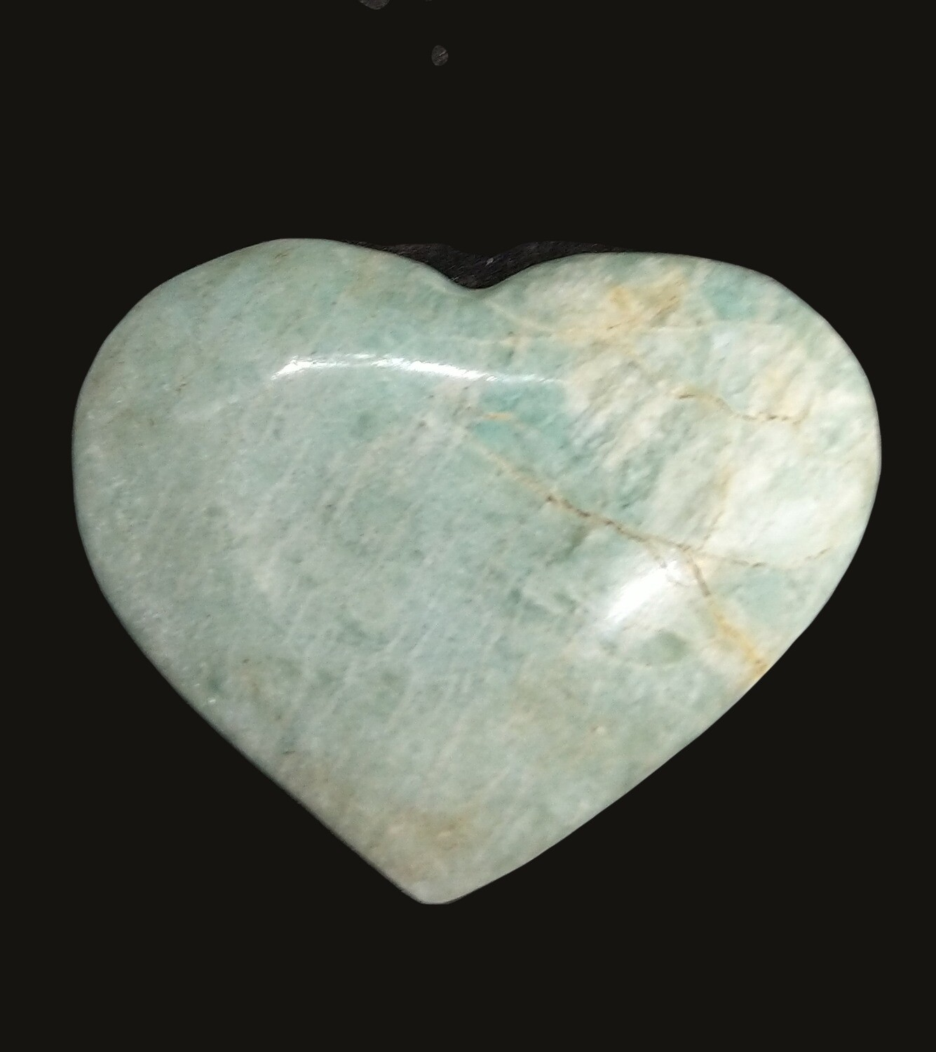 AMAZONITE LARGE HEART WITH STAND