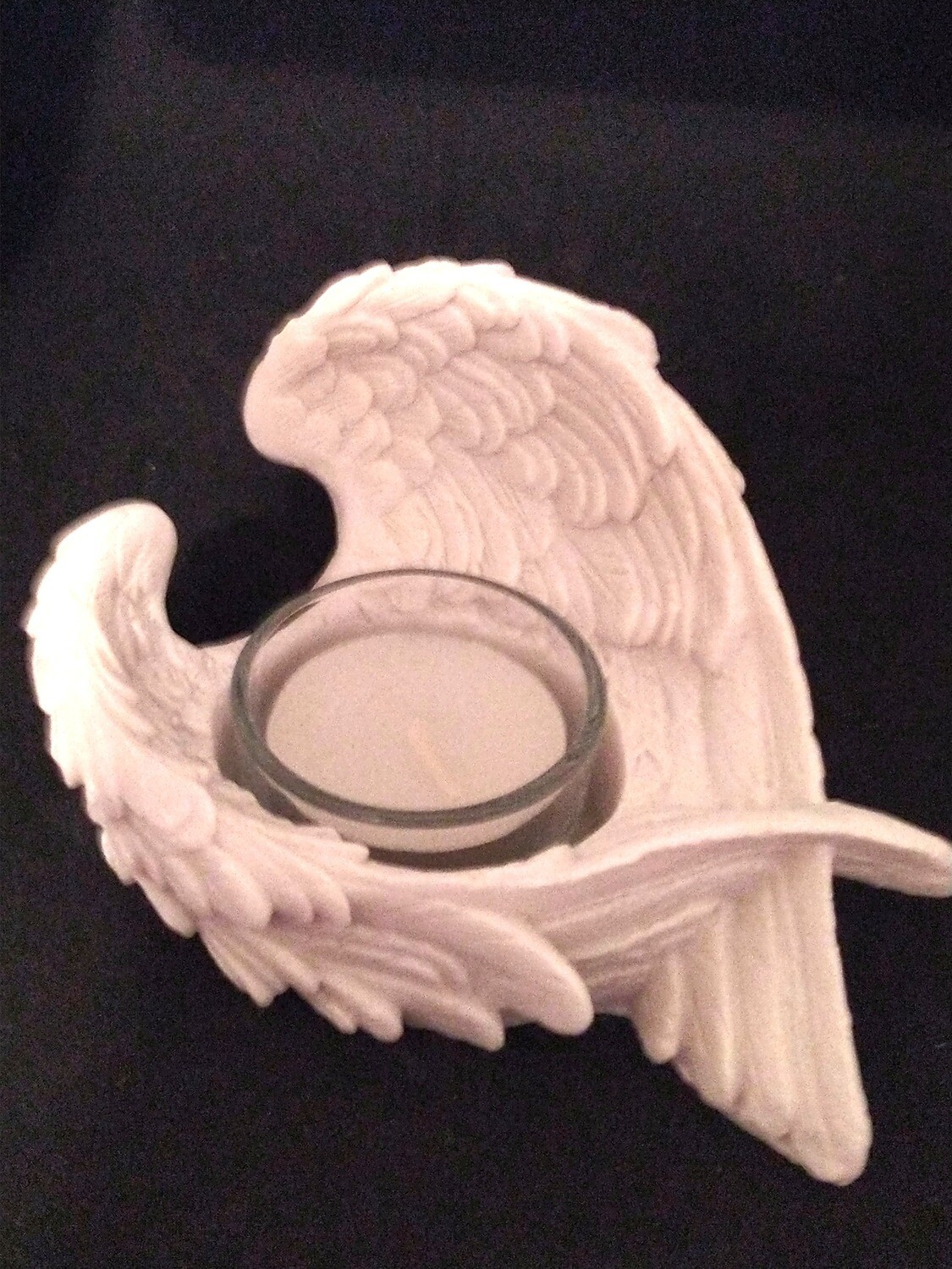 CANDLE ANGEL WING HOLDER