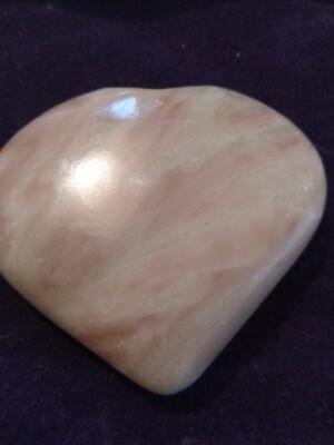 PERUVIAN PINK OPAL LARGE  HEART 6