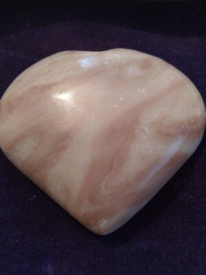 PERUVIAN PINK OPAL LARGE  HEART 4