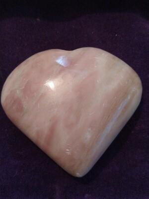PERUVIAN PINK OPAL LARGE  HEART 3
