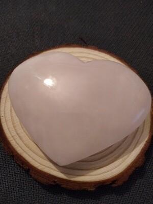 MANGANO CALCITE HEART LARGE (RARE FLUORESCENT CALCITE)