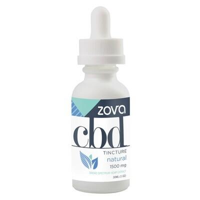 Zova CBD Tincture Natural 1500 mg 30 mL