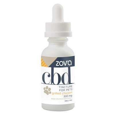 Zova CBD Tincture for Pets Grilled Chicken 300mg 30mL